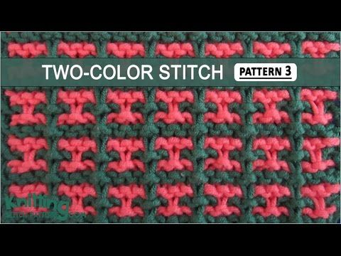 Two-Color Stitch Pattern #3 - 12/17/2014 - YouTube