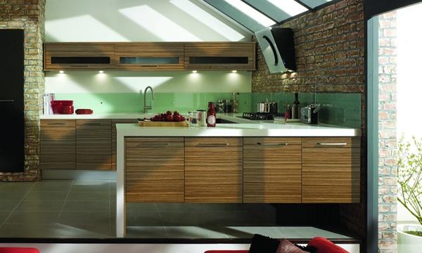 British Modern Kitchen in Walnut finish