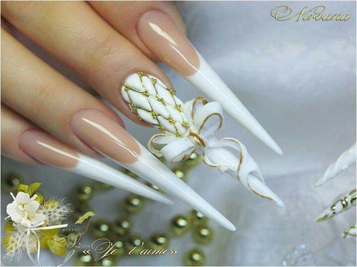 Absolutely Amazing nail art design for wedding occasion!