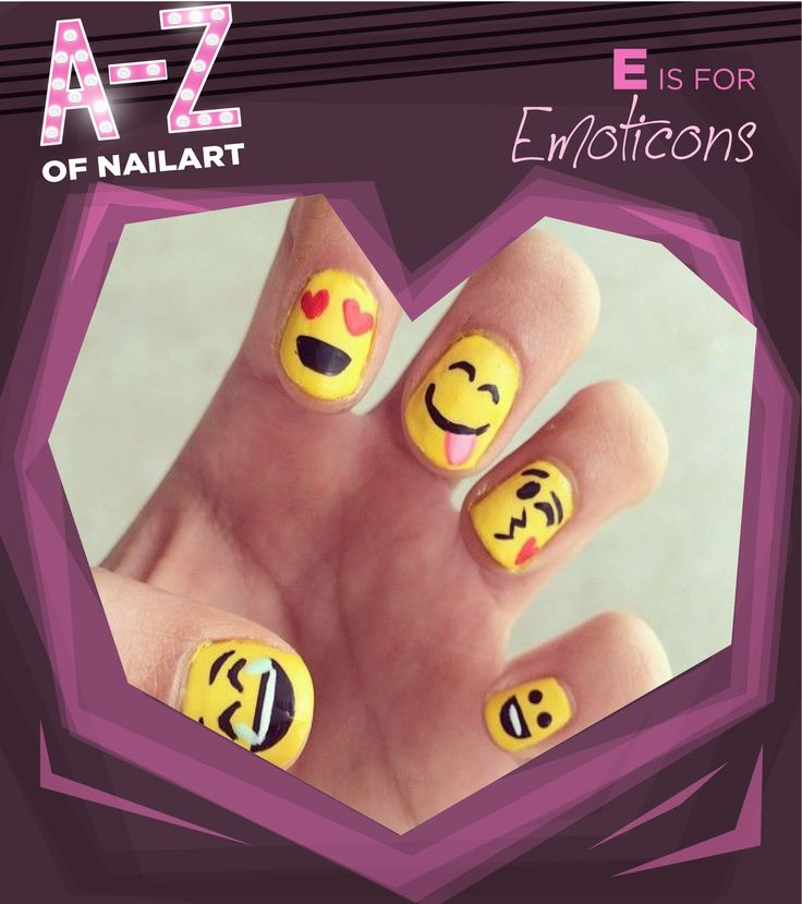 E is for Emoticons #A-ZNailArt