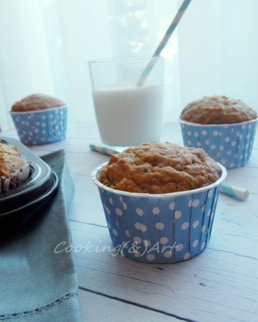 Υγιεινά muffins με καρότο, κολοκύθι, μπανάνα