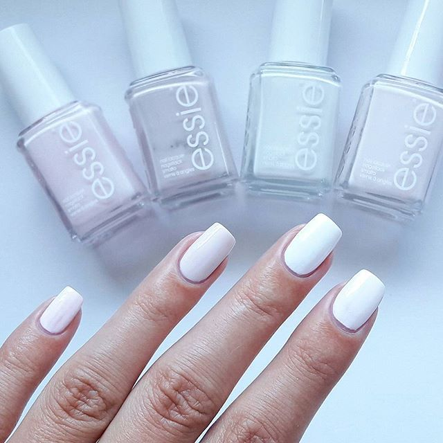 Gorgeous essie pastels -- fiji, urban jungle, blanc and coconut cove.