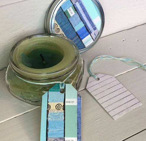 Quick and Easy - Pretty Packaging For Mason Jar Candles canvas corp 7gypsies paper papercraft