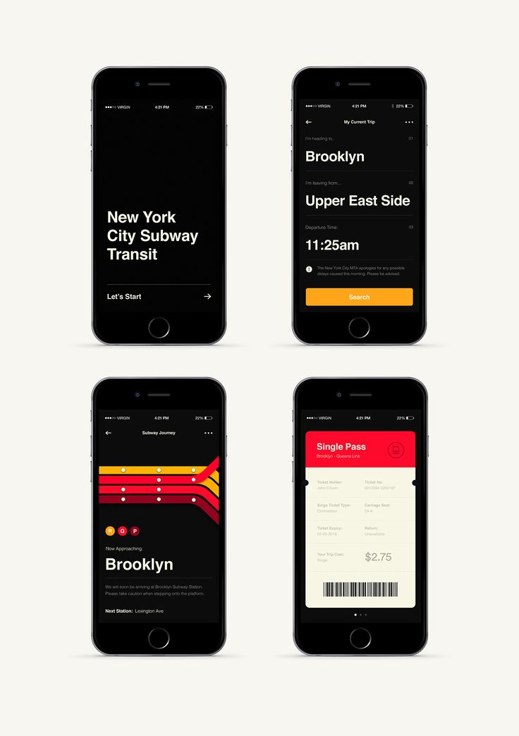 New York City subway transit app concept / Deloitte Digital Australia