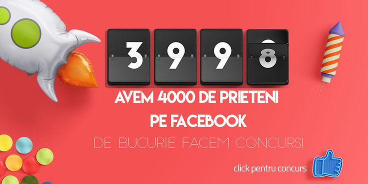 Concurs 4000 de prieteni pe pagina de facebook ledia.ro