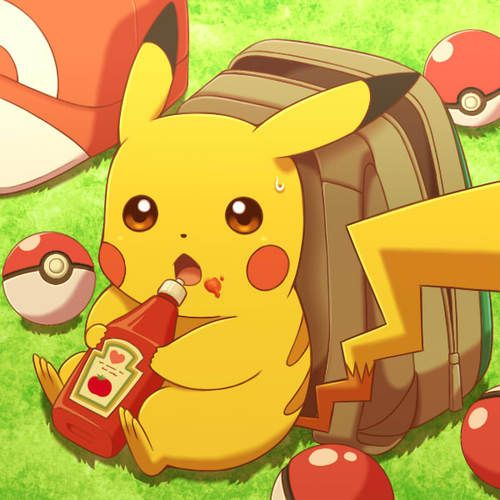 Pikachu loves his ketchup :)