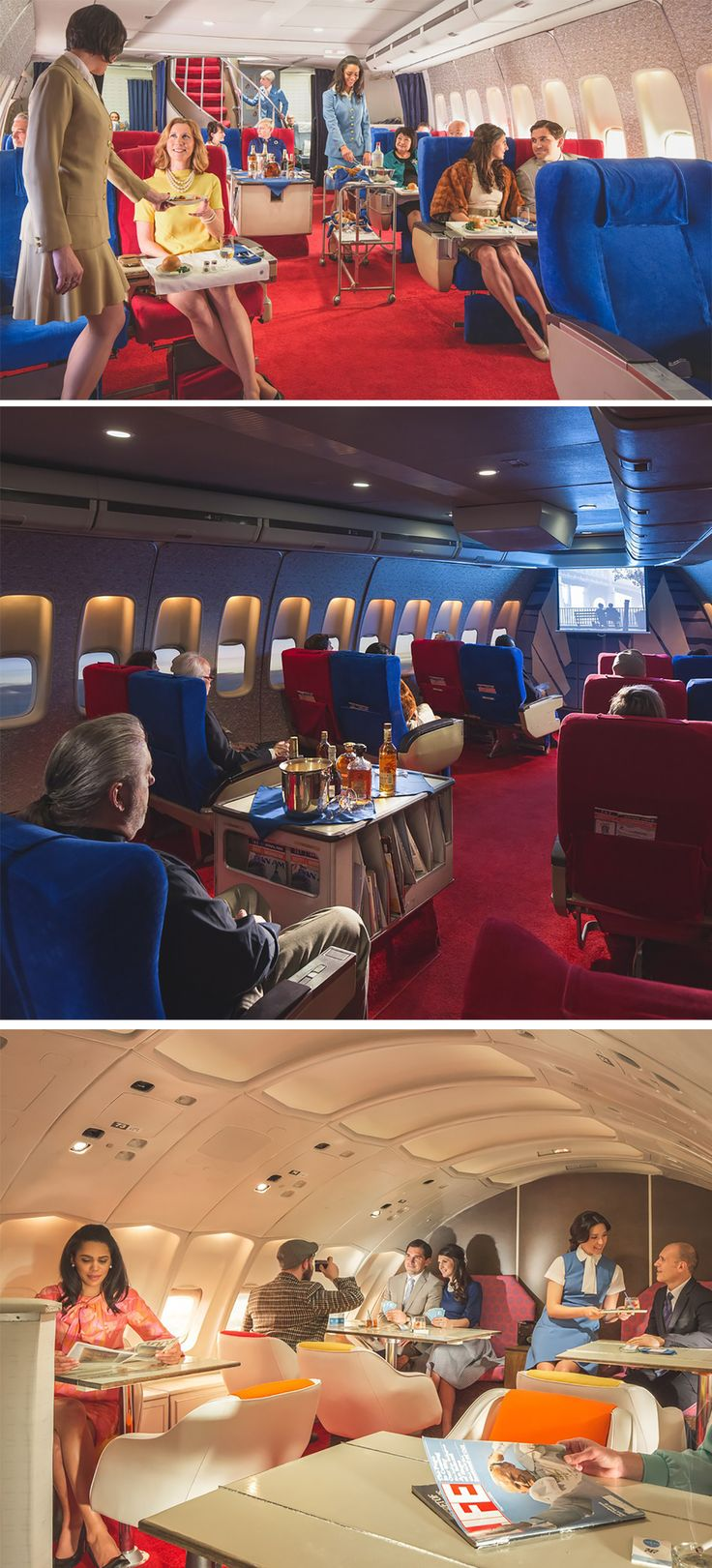 "Air Hollywood has restored a [fake] Pan Am 747 plane back to its 1970s glory for a four-hour ""flight"" experience including a four-course meal, a movie and cocktails."