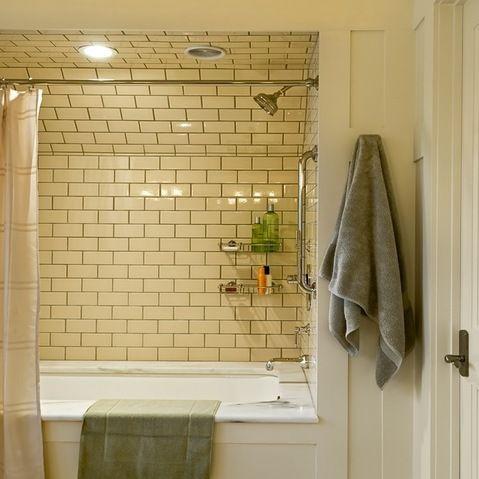 Subway Tile Tub Surround Design Ideas, Pictures, Remodel and Decor
