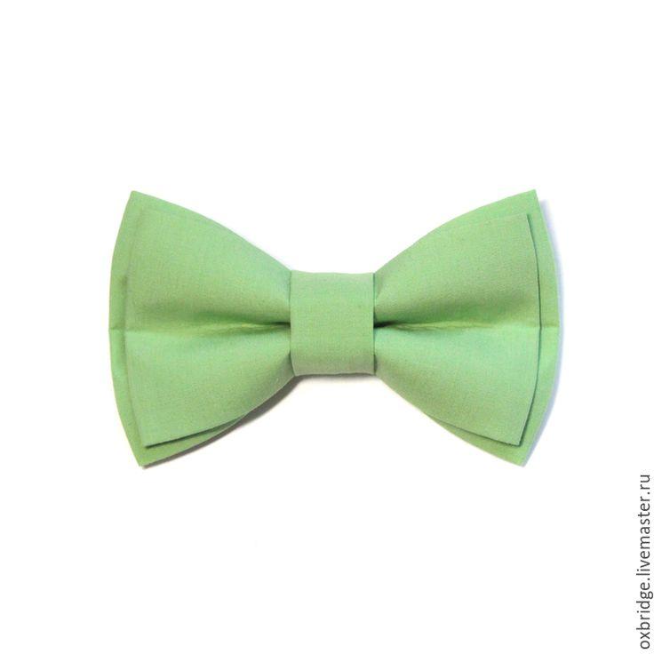Купить Галстук бабочка светло-зеленого цвета / Бабочка галстук салатовый - галстук бабочка