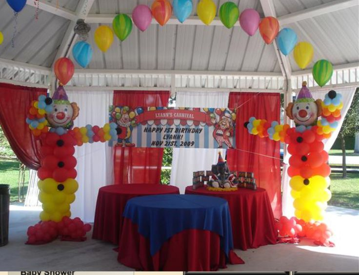 14 best baby mickey images on pinterest mickey party parties and mickey mouse birthday - Carnival theme decoration ideas ...