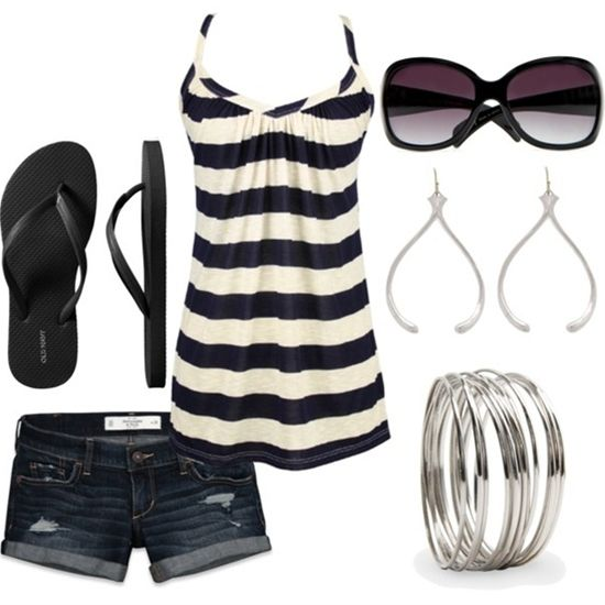 Cute summer outfit - Click image to find more Hair & Beauty Pinterest pins.....wish I was tone enough to wear this!!