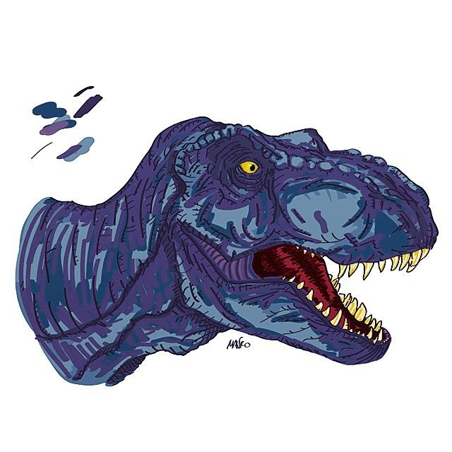 #drawing #draw #tattoo #nerd #geek #illustration #illustrator #comics #marvel #dinosaur #tirannosauro #tyrannosaurus #jurassicpark #jurassicworld #biteme