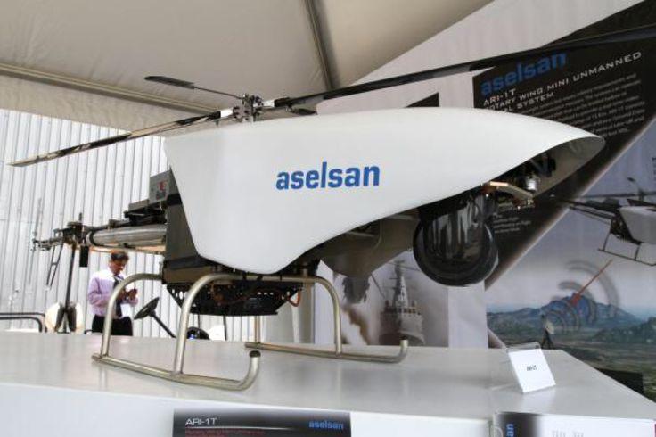 Aselsan ARI-1T。トルコの軍事関係の機器を扱うメーカーであるASELSAN A.Ş.によって発表されたUAV(無人航空機)の一つ。回転翼機タイプで監視/偵察などのミッションに対応するとのこと。遠隔操縦できる。