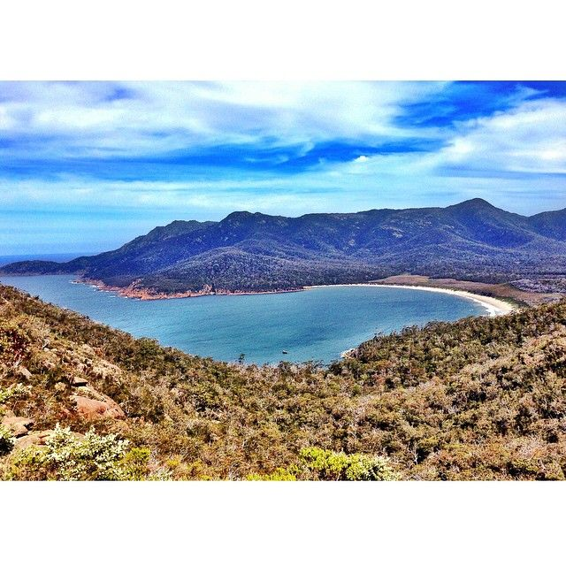 Wineglass Bay in Freycinet National Park on the East Coast of Discover Tasmania via http://buff.ly/1cgFI05?utm_content=buffer142b3&utm_medium=social&utm_source=pinterest.com&utm_campaign=buffer #travel