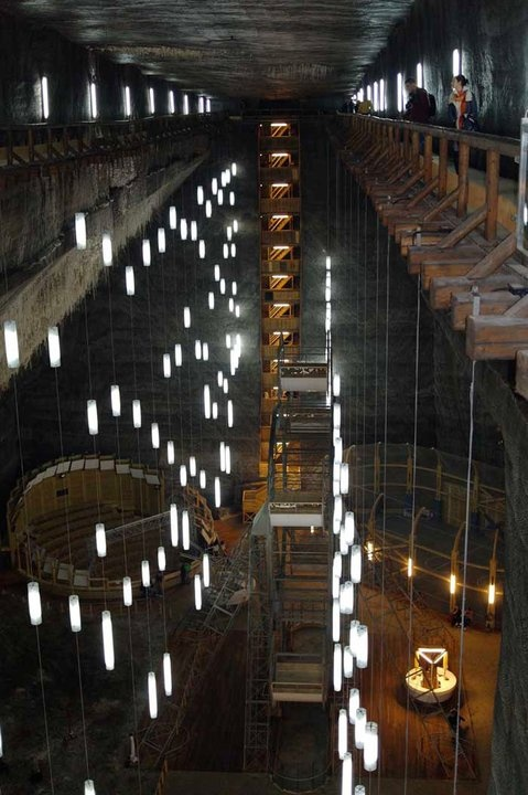SALT MINES OUTSIDE OF CLUJ NAPOCA IN TRANSYLVANIA