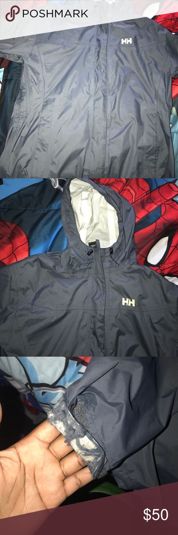 Helly Hansen Wind Breaker Used Helly Hansen. 6/10 condition only because the sleeve is a little torn. The rest of the jacket is 10/10. Helly Hansen Jackets & Coats