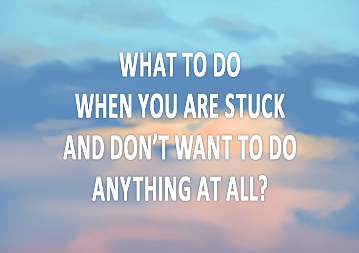 What to do when you are stuck? The time will never be right nor perfect. You make it right yourself, here and now. Do what needs to be done, face the challenge!