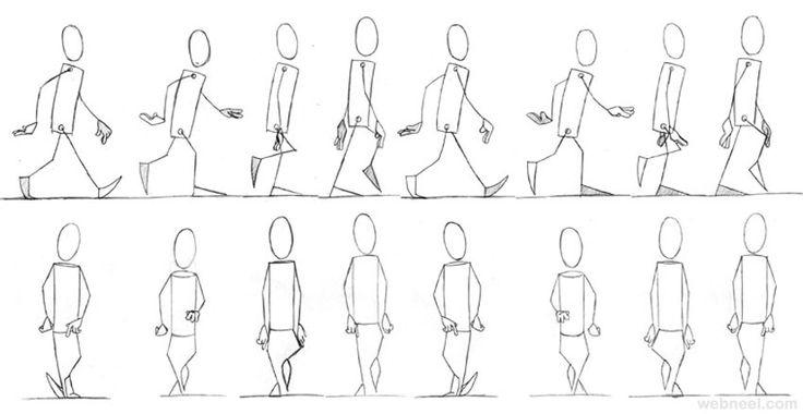 25 Best Walk Cycle Animation Videos and keyframe illustrations   Read full article: http://webneel.com/walk-cycle-animation   more http://webneel.com/animation   Follow us www.pinterest.com/webneel
