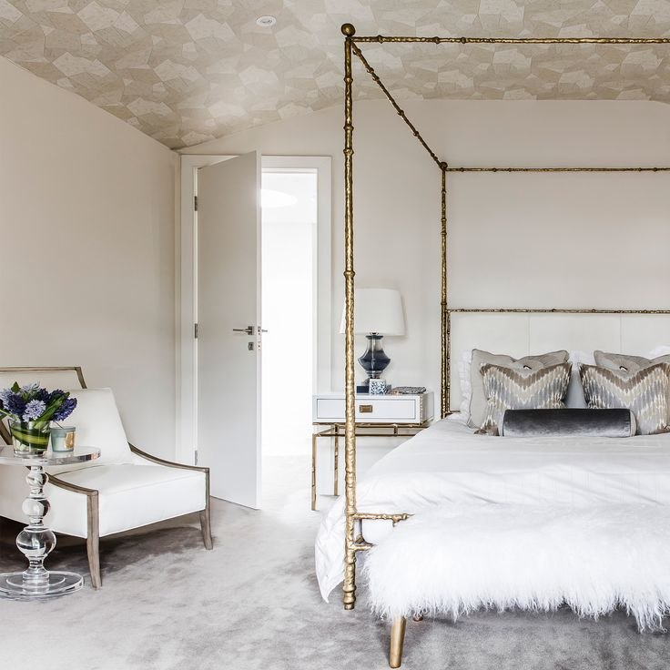 A glamorous bedroom sanctuary created for a client by Coco Republic Interior Design. #CocoRepublic #InteriorDesign #bedroom #interiors #home