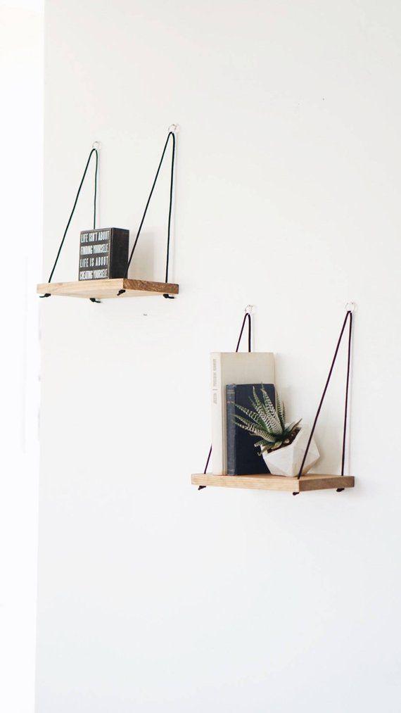 2 PETIT Shelves / Hanging Shelf / Floating Shelf / Swing Shelf