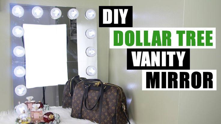 DOLLAR TREE DIY VANITY MIRROR | Large DIY Vanity Mirror Tutorial | Dollar Store DIY Glam Room Decor - YouTube