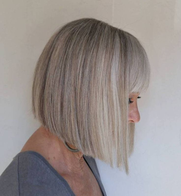 Over Blunt Angled Bob With Bangs                                                                                                                                                                                 More