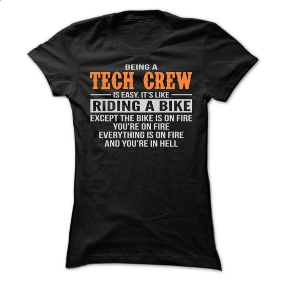 BEING A TECH CREW T SHIRTS - #long sleeve shirts #cool tshirt designs. ORDER NOW => https://www.sunfrog.com/Geek-Tech/BEING-A-TECH-CREW-T-SHIRTS-Ladies.html?60505
