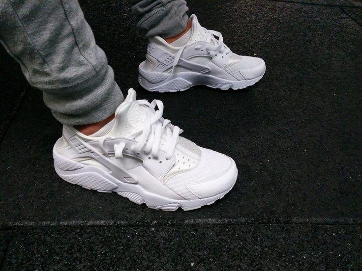 All White Nike Air Huarache