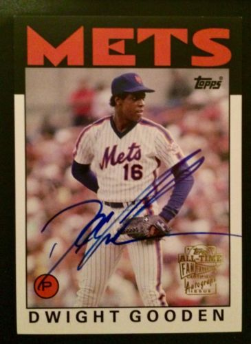 2005 Topps All-Time Fan Favorites - Dwight Gooden AUTOGRAPH