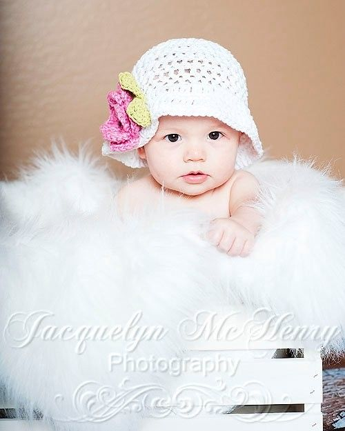 The Grace Sun Hat in White and Dark Pink  by mamamegsyarnshoppe, $20.00