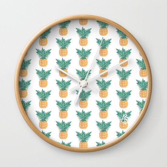 Retro Pineaple Wall Clock