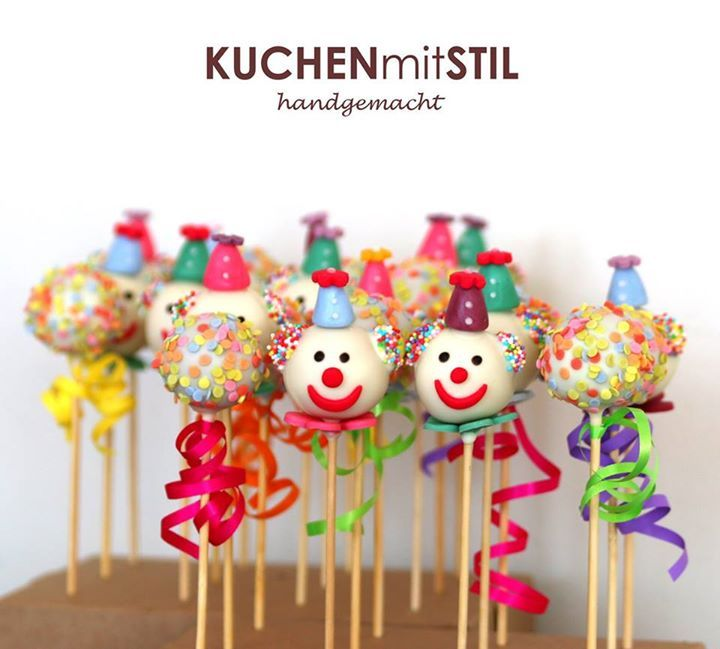Colorful Confetti & Clowns Cake Pops