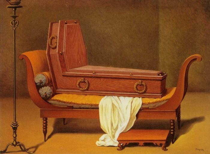 1950 Magritte Perspective Mme R?camier de David, 60x80 cm