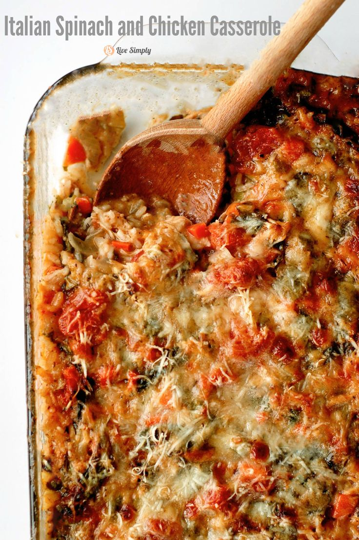 A warm freezer-friendly meal for winter...Italian Spinach and Chicken Casserole. The perfect real food budget-friendly family meal.