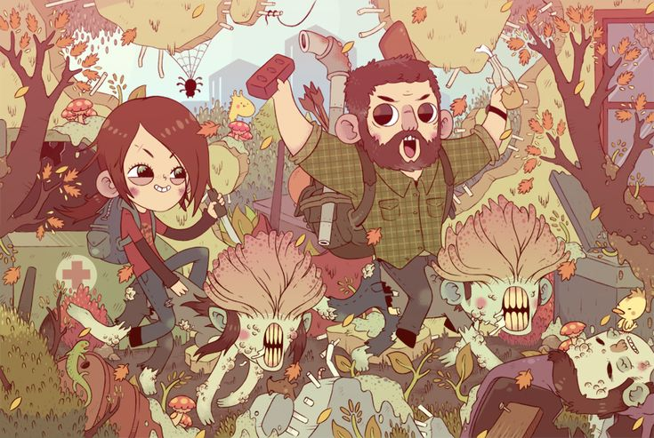 TLOU | The Last of Us | Gaming | Video Game | Ellie | Joel | Clickers | Fan art | Digital Art | Illustration