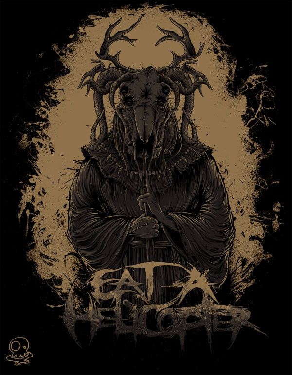 Eat a Helicopter shirts by Tim Hastings, via Behance