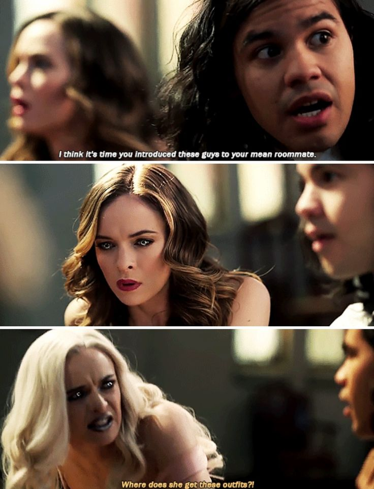 High-5 for Cisco trusting both sides of Caitlin to have his back in a fight. Also, blame Iris for the dress not Caitlin