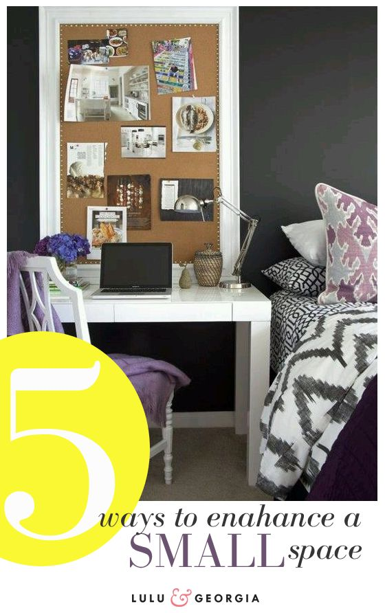 Framed cork board for the girls! (Lulu & Georgia: 5 Ways To Enhance a Small Space)