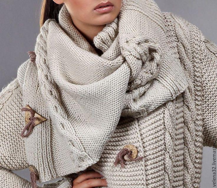 """Купить Пальто """"Анастасия"""" - бежевый, однотонный, пальто, пальто женское, пальто из шерсти, пальто демисезонное"""