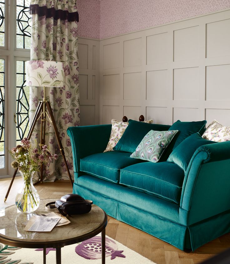 Wonderful Teal Sofa / Laura Ashley