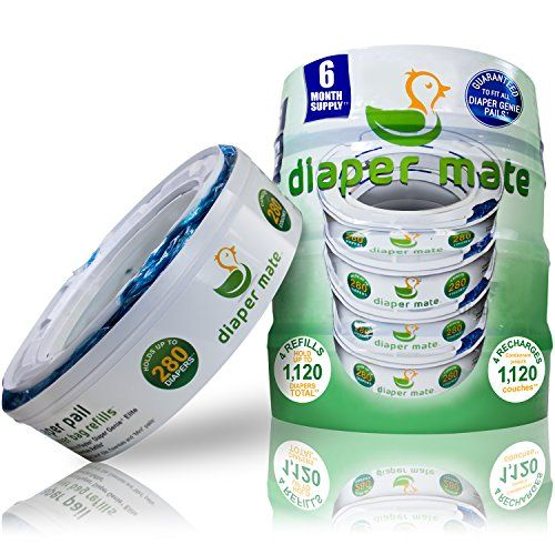 Diaper Mate Refill for Diaper Genie and Munchkin Diaper Pails 4 Pack - 1,120 Count - 6 Month Supply - https://all4babies.co.business/2016/11/05/diaper-mate-refill-for-diaper-genie-and-munchkin-diaper-pails-4-pack-1120-count-6-month-supply/  #1120, #Count, #Diaper, #Genie, #Mate, #Month, #Munchkin, #Pack, #Pails, #Refill, #Supply #Diapering