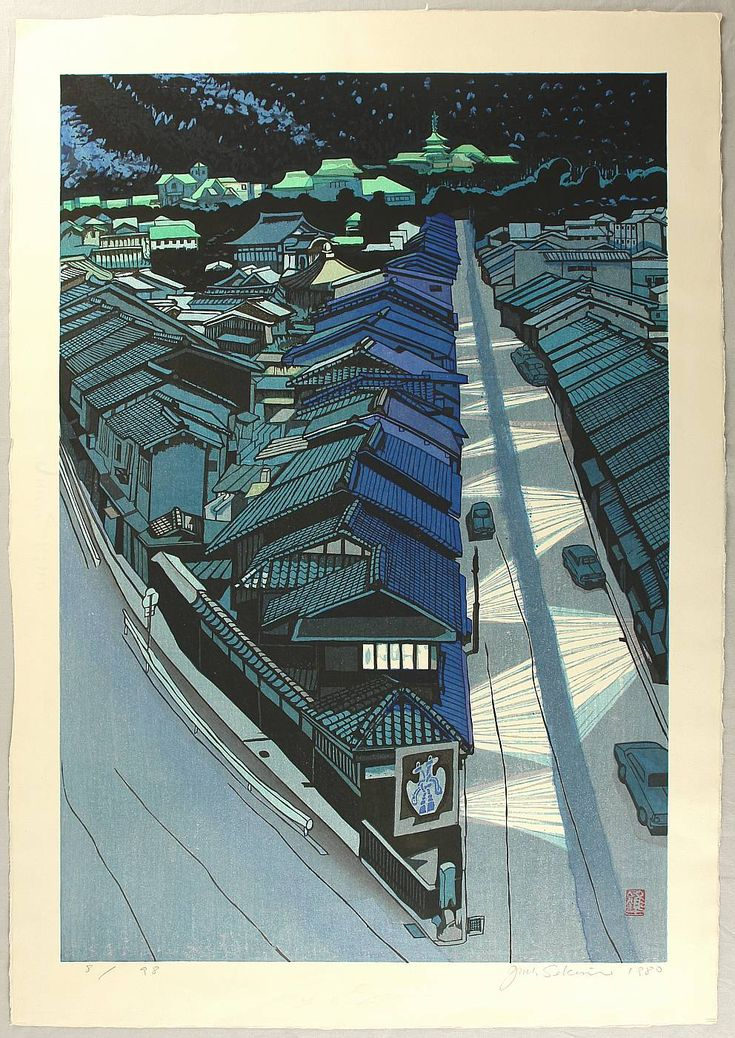 Night in Kyoto by Sekino Junichiro