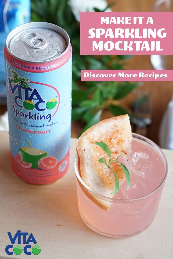 Vita Coco Sparkling Mocktail Drinks Alcohol Recipes Mocktail Recipe Coconut Drinks