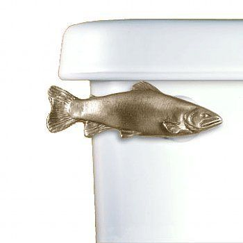 functional fine art chrome trout decorative toilet flush handle tank trip lever side tank bath ideasfish