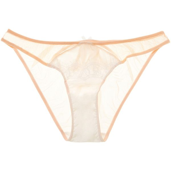 Mimi Holliday Women's Dream Girl Bikini Brief - White - Size l ($35) ❤ liked on Polyvore featuring intimates, panties, white, fringe bikini bottom, cut out bikini bottoms, mimi holliday by damaris, bow bikini bottom and white bikini bottoms