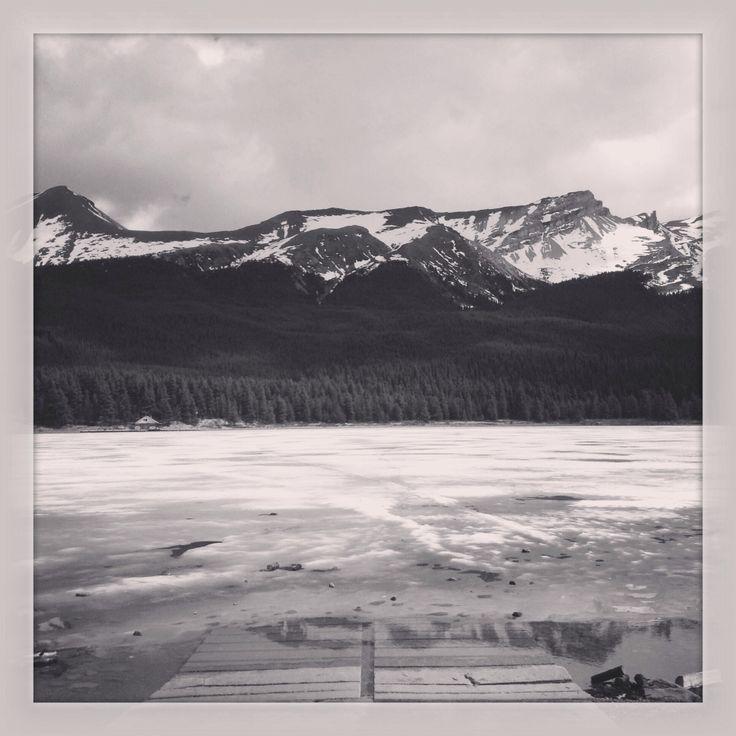Frozen lake. Jasper. Canada