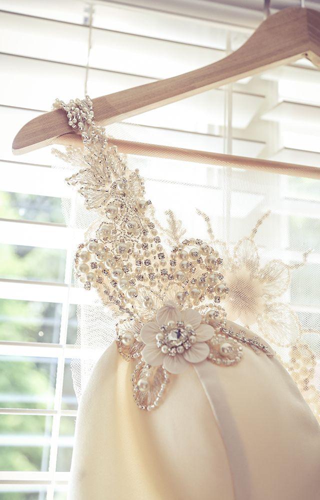Bridal gown detail | Vintage Wedding Photography | www.newvintagemedia.ca