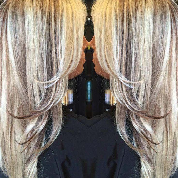 картинки мелирование на светлые волосы темными прядями для мастеров