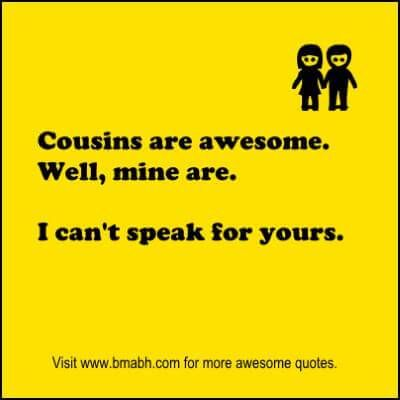 Image result for quotes about cousins