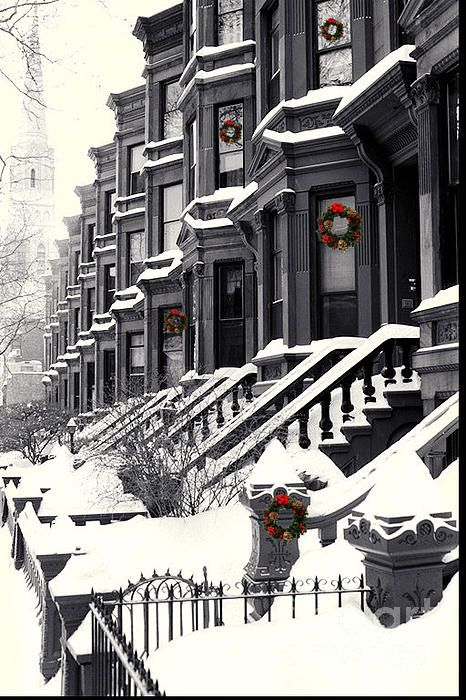 Carroll Street, Park Slope, Brooklyn: Winter Wonderland, Snow, Christmas, Nyc, Places, New York, Brooklyn